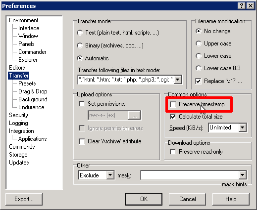 SFTP access with WinSCP | Documentation | Memset
