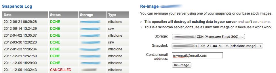 Restoring a Miniserver Snapshot