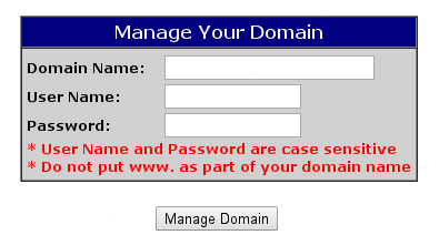 OpenSRS Login Page
